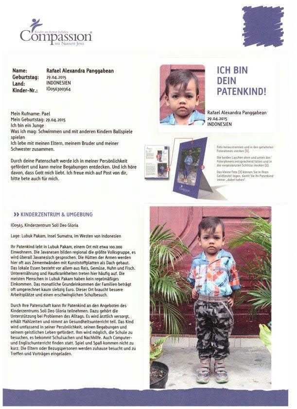Unser Patenkind von Indonesien